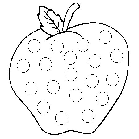Pomme gommettes - Pommes dessin ...